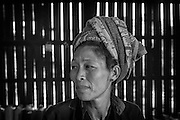 Myanmar. Portrait of lady of the Shan State.