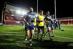 Bristol Rugby Prop Ellis Genge leads Bristol Rugby in from the warmup - Mandatory byline: Rogan Thomson/JMP - 22/01/2016 - RUGBY UNION - Ashton Gate Stadium - Bristol, England - Bristol Rugby v Ulster A - British & Irish Cup.