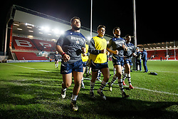 Bristol Rugby Prop Ellis Genge leads Bristol Rugby in from the warmup - Mandatory byline: Rogan Thomson/JMP - 22/01/2016 - RUGBY UNION - Ashton Gate Stadium - Bristol, England - Bristol Rugby v Ulster A - British & Irish Cup.