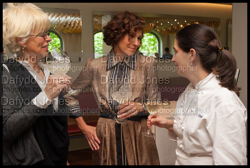LARA GILMORE; LICIA GRANELLO; ELENA ARZAK, Veuve Clicquot World's Best Female chef champagne tea party. Halkin Hotel. Halkin St. London SW1. 28 April 2014.