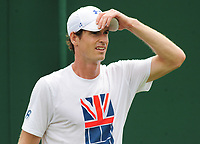 Tennis - 2017 Wimbledon Championships -<br /> Training sessions<br /> <br /> Andy Murray [GBR] training on court 7<br /> <br /> <br /> COLORSPORT/ANDREW COWIE