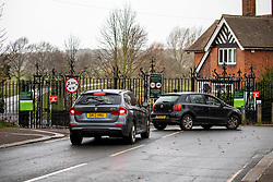 © Licensed to London News Pictures. 09/02/2020. London, UK. Drivers are turned away at Roehampton Gate in Richmond Park as it closes its gates to the public. Storm Ciara hits London and the South East as Richmond Park and 7 other Royal Parks close their gates this morning as weather experts predict stormy weather with very high winds and heavy rain for Sunday. Photo credit: Alex Lentati/LNP