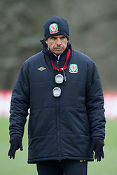 CARDIFF, WALES - Sunday, March 24, 2013: Wales' manager Chris Coleman during a training session at the Vale of Glamorgan ahead of the 2014 FIFA World Cup Brazil Qualifying Group A match against Croatia. (Pic by David Rawcliffe/Propaganda)  CARDIFF, WALES - Sunday, March 24, 2013: Wales' xxxx during a training session at the Vale of Glamorgan ahead of the 2014 FIFA World Cup Brazil Qualifying Group A match against Croatia. (Pic by David Rawcliffe/Propaganda)