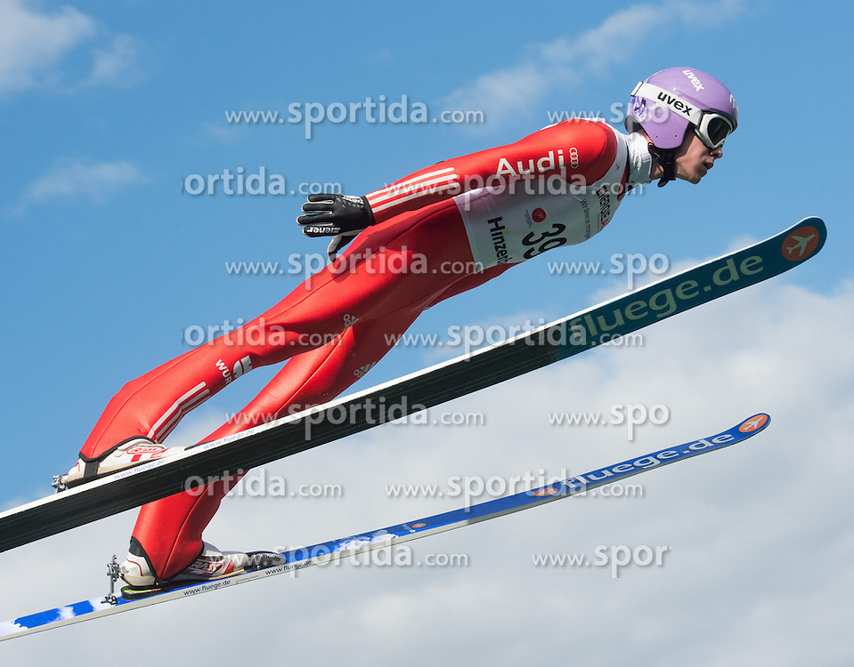 27.09.2015, Energie AG Skisprung Arena, Hinzenbach, AUT, FIS Ski Sprung, Sommer Grand Prix, Hinzenbach, im Bild Andreas Wellinger (GER) // during FIS Ski Jumping Summer Grand Prix at the Energie AG Skisprung Arena, Hinzenbach, Austria on 2015/09/27. EXPA Pictures © 2015, PhotoCredit: EXPA/ Reinhard Eisenbauer