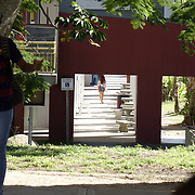 DECEMBER 1, 2017---HUMACAO, PUERTO RICO--<br /> Students at the University of Puerto Rico's Humacao campus with classrooms set up in temporary tents just outside the normal classrooms. Hurricane Maria damaged a lot of the structures and the school runs on generators since the power has not been restored.<br /> (PHOTO BY ANGEL VALENTIN/FREELANCE)