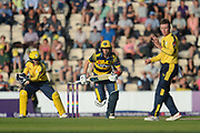 Andrew Salter of Glamorgan batting during the NatWest T20 Blast South Group match between Hampshire County Cricket Club and Glamorgan County Cricket Club at the Ageas Bowl, Southampton, United Kingdom on 10 August 2017. Photo by Dave Vokes.