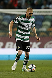 October 22, 2017 - Lisbon, Portugal - Sporting's defender Jeremy Mathieu in action  during Primeira Liga 2017/18 match between Sporting CP vs GD Chaves, in Lisbon, on October 22, 2017. (Credit Image: © Carlos Palma/NurPhoto via ZUMA Press)