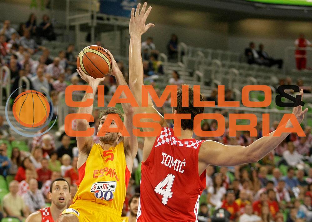 DESCRIZIONE : Lubiana Ljubliana Slovenia Eurobasket Men 2013 Finale Terzo Quarto Posto Spagna Croazia Final for 3rd to 4th place Spain Croatia<br /> GIOCATORE : Rudy Fernandez<br /> CATEGORIA : tiro shot<br /> SQUADRA : Spagna Spain<br /> EVENTO : Eurobasket Men 2013<br /> GARA : Spagna Croazia Spain Croatia<br /> DATA : 22/09/2013 <br /> SPORT : Pallacanestro <br /> AUTORE : Agenzia Ciamillo-Castoria/A.Cukic<br /> Galleria : Eurobasket Men 2013<br /> Fotonotizia : Lubiana Ljubliana Slovenia Eurobasket Men 2013 Finale Terzo Quarto Posto Spagna Croazia Final for 3rd to 4th place Spain Croatia<br /> Predefinita :