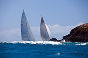 Ranger and P2 racing in the St. Barth's Bucket Regatta.