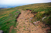 Human erosion on the Pennine Way long distance footpath, Dufton, Cumbria, England
