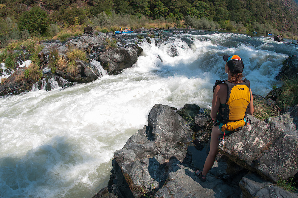 Scouting Rainy Falls on the Rogue River, Oregon.