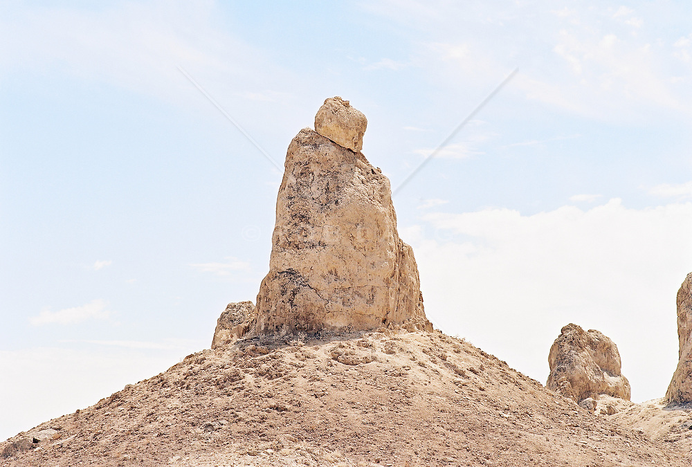 Trona pinnacles against sky