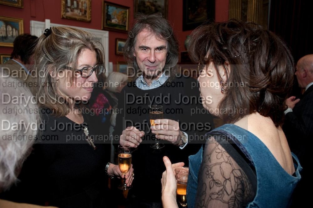 SARAH BRAKA; IVOR BRAKA; , Party to celebrate the publication of Animal Magic by Andrew Barrow. Tite St. London. 28 February 2011.  -DO NOT ARCHIVE-© Copyright Photograph by Dafydd Jones. 248 Clapham Rd. London SW9 0PZ. Tel 0207 820 0771. www.dafjones.com.