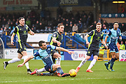 Wycombe Wanderers Midfielder Matthew Bloomfield (10) scores (1-0) during the EFL Sky Bet League 2 match between Wycombe Wanderers and Carlisle United at Adams Park, High Wycombe, England on 3 February 2018. Picture by Stephen Wright.