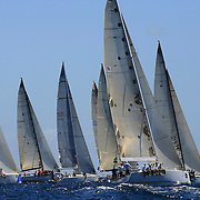 SYDNEY-DECEMBER 21: Yacht's compete in The Rolex Trophy 2008 Rating series run by The Cruising Yacht Club of Australia on December 21, 2008 in Sydney, Australia. The racing series, conducted in the waters around Sydney, is a preliminary tournament to the Rolex Sydney Hobart Yacht race 2008 which will start of Boxing Day, December 26th. Over 100 yacht's are entered in this years race with spectators on the Sydney Harbour foreshore estimated to reach around 500,000 people. Photo Tim Clayton