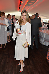 ZOE HARDMAN at the Audi Polo Challenge at Coworth Park, Blacknest Road, Ascot, Berkshire on 31st May 2015.