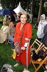 PATTI PALMER-TOMKINSON at the 3rd annual Macmillan Dog Day in aid of Macmillan Cancer Relief held at Royal Hospital Chelsea, London SW3 on 5th July 2005.<br />
