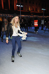 Cara Delevingne at Skate presented by Tiffany & Co at Somerset House, London on 22nd November 2010.