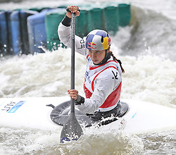 July 1, 2018 - Krakow, Poland - 2018 ICF Canoe Slalom World Cup 2 in Krakow. Day 2. On the picture: VIKTORIA WOLFFHARDT (Credit Image: © Damian Klamka via ZUMA Wire)