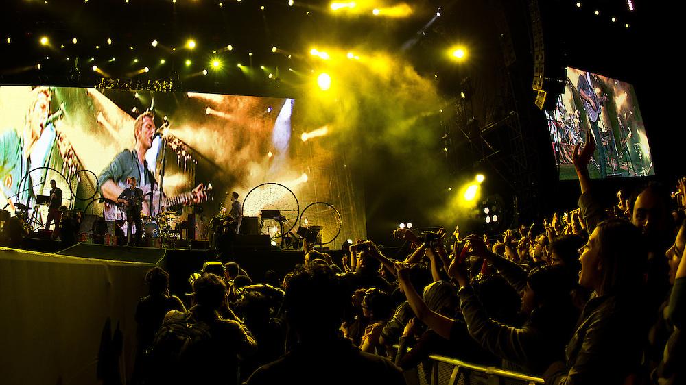 UAE, Abu Dhabi, Destination Village. 31st December 2011. Coldplay.