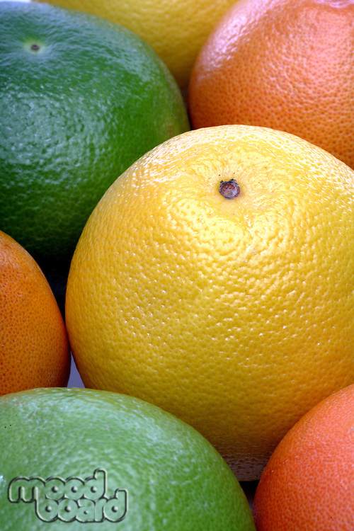 Grapefruits background - close-up