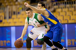 Matic Siska of KK Krka during basketball match between KK Krka and KK Sencur GGD in 1st Semifinal of Slovenian Spar Cup 2017/18, on February 16, 2018 in Sports hall Tivoli, Ljubljana, Slovenia. Photo by Urban Urbanc / Sportida