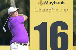 March 22, 2019 - Kuala Lumpur, Malaysia - Marcus Fraser of Australia hits his tee-shot on the tenth hole on Day Two of the Maybank Championship at at Saujana Golf and Country Club on March 22, 2019 in Kuala Lumpur, Malaysia. (Credit Image: © Chris Jung/NurPhoto via ZUMA Press)