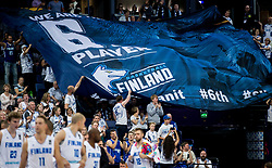 Supporters of Finland during basketball match between National Teams of Finland and Slovenia at Day 3 of the FIBA EuroBasket 2017 at Hartwall Arena in Helsinki, Finland on September 2, 2017. Photo by Vid Ponikvar / Sportida