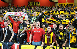 Borussia Dortmund Fans. - Photo mandatory by-line: Alex James/JMP - Tel: Mobile: 07966 386802 22/10/2013 - SPORT - FOOTBALL - Emirates Stadium - London - Arsenal v Borussia Dortmund - CHAMPIONS LEAGUE - GROUP F