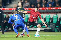 10.12.2011, AWD Arena, Hannover, GER, 1.FBL, Hannover 96 vs Bayer 04 Leverkusen, im Bild Andre Schuerrle (Bayer 04 Leverkusen) und Lars Stindl (Hannover 96) // during the Match GER, 1.FBL, Hannover 96 vs Bayer 04 Leverkusen, AWD Arena, Hannover, Germany, on 2011/12/10. EXPA Pictures © 2011, PhotoCredit: EXPA/ nph/ SielskiSielski..***** ATTENTION - OUT OF GER, CRO *****