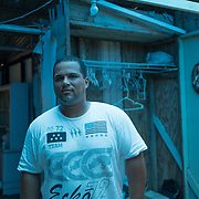 Guayama, Puerto Rico - July 6, 2018: Pedro Ortiz in his house destroyed by Hurricane Maria. His son Devin plays for the 12 and Under selection from Guayama which will compete in Little League World Series.<br /> (Angel Valentin for ESPN)