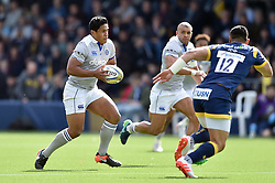 Ben Tapuai of Bath Rugby in possession - Mandatory byline: Patrick Khachfe/JMP - 07966 386802 - 15/04/2017 - RUGBY UNION - Sixways Stadium - Worcester, England - Worcester Warriors v Bath Rugby - Aviva Premiership.
