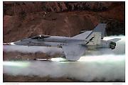 F/A-18A firing Zuni missiles