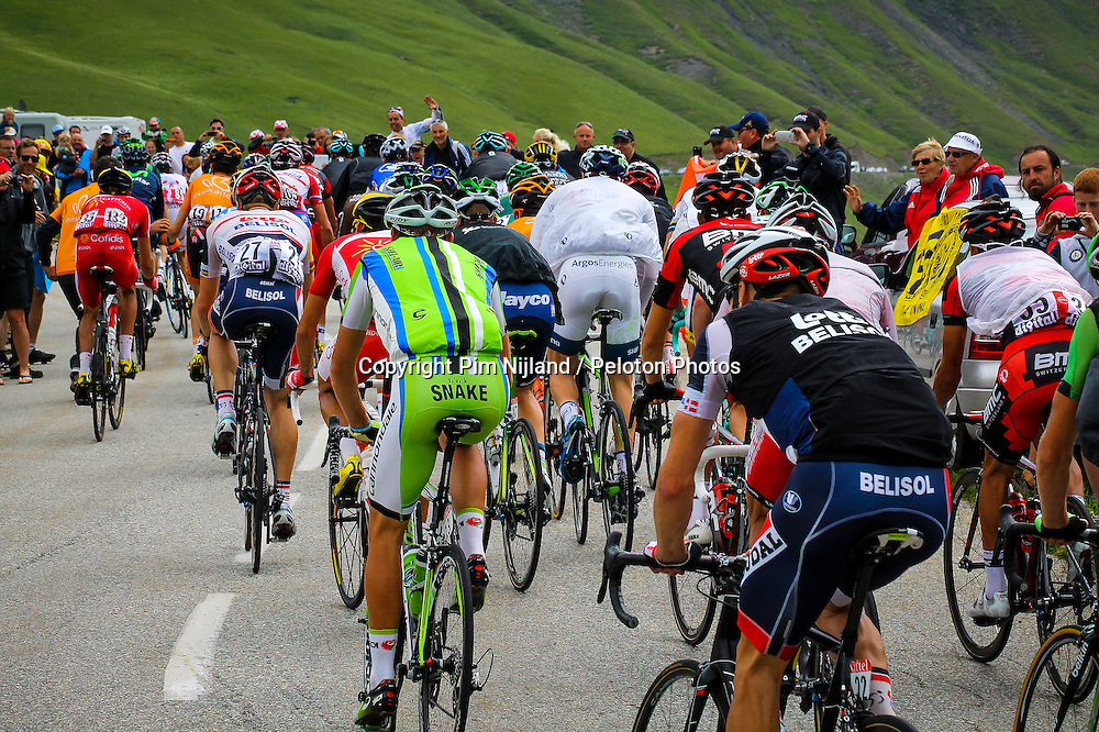 Col du Glandon, France - Tour de France :: Stage 19 - 19th july 2013 - The back of 2nd group with BAK (Lotto) and DE MARCHI (Can)