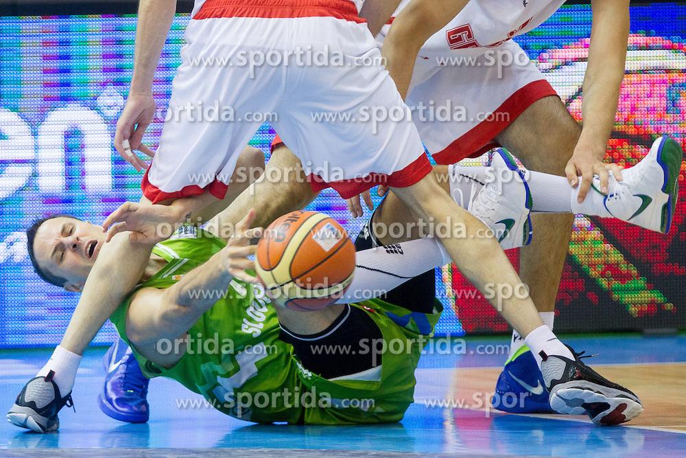 Bostjan Nachbar of Slovenia during basketball match between National teams of Georgia and Slovenia in Round 1 at Day 4 of Eurobasket 2013 on September 7, 2013 in Arena Zlatorog, Celje, Slovenia. (Photo by Vid Ponikvar / Sportida.com)