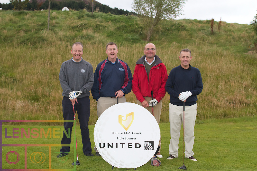 The Ireland-U.S. Council.Golf Day in Ireland...Friday, August 31, 2012 at Dun Laoghaire Golf Club, Enniskerry, County Wicklow, Ireland, Sponsored by United..Mark Millar, .John O'Brien,.Kieron McHugh,.Chris Hamilton,.