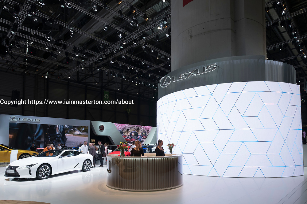 View of Lexus stand at 87th Geneva International Motor Show in Geneva Switzerland 2017