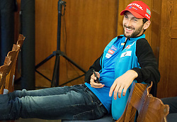 Jakov Fak during official presentation of the outfits of the Slovenian Ski Teams before new season 2015/16, on October 6, 2015 in Kulinarika Jezersek, Sora, Slovenia. Photo by Vid Ponikvar / Sportida