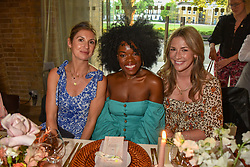Rosie Underwood OK Magazine, Nana Acheampong, Celebrity Fashion Stylist at Fabulous Magazine, Ashley Wilson, Blogger at A Mothers Edit at a cocktail and dinner hosted by fashion label Free People at Free People 38-39 Duke of York Square, Chelsea, London England. 21 May 2019.