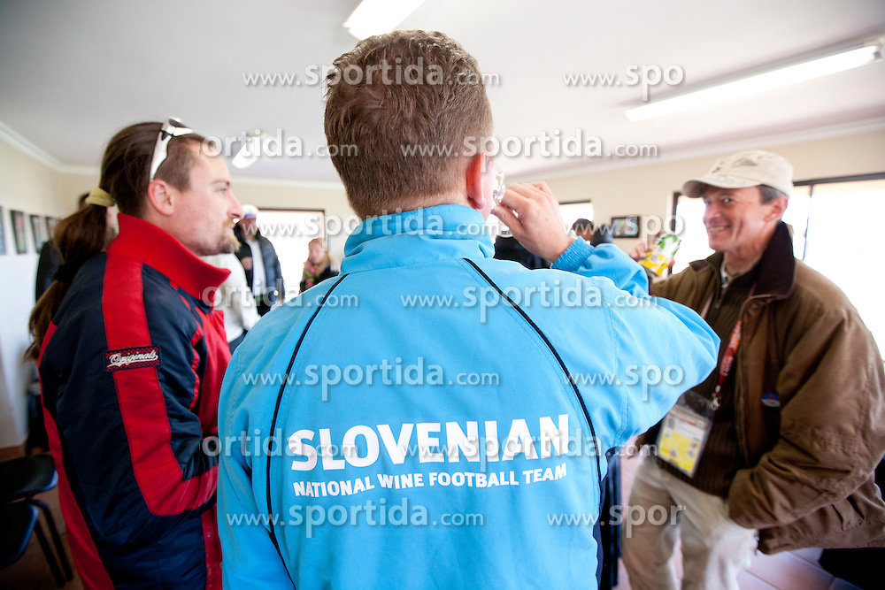 Rok Plestenjak, Danilo Steyer and Joze Okorn after the friendly match between Slovenian football journalists and officials of Slovenian football federation at  Hyde Park High School Stadium on June 16, 2010 in Johannesburg, South Africa.  (Photo by Vid Ponikvar / Sportida)