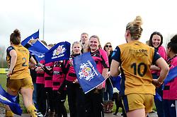 Flag bearers - Mandatory by-line: Dougie Allward/JMP - 11/12/2016 - RUGBY - Cleve RFC - Bristol, England - Bristol Ladies v Darlington Mowden Park Ladies - RFU Women's Premiership