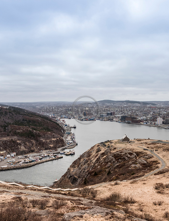 View of St-John's NL from atop Signal Hill