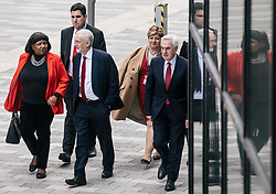 © Licensed to London News Pictures. 26/09/2018. Liverpool, UK. Labour Party Leader JEREMY CORBYN and members of the shadow cabinet arrive at the Labour Party Conference ahead of Jeremy Corbyn's speech. Photo credit: Rob Pinney/LNP