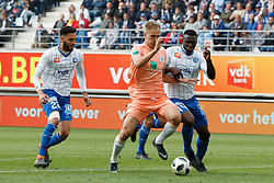 May 13, 2018 - Gent, BELGIUM - Anderlecht's Lukasz Teodorczyk and Gent's Anderson Esiti fight for the ball during the Jupiler Pro League match of Play-Off group 1, between KAA Gent and RSC Anderlecht, in Gent, Sunday 13 May 2018, on day nine of the Play-Off 1 of the Belgian soccer championship. BELGA PHOTO KURT DESPLENTER (Credit Image: © Kurt Desplenter/Belga via ZUMA Press)