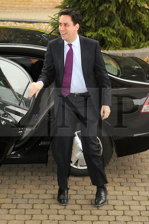 © under license to London News Pictures. 27.11.2010 Ed Miliband Leader of the labour party arriving to make a speech at the National Policy Forum at Gillingham Football Club, Priestfield Stadium, Kent.  Picture credit should read Grant Falvey/London News Pictures