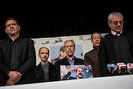 © Benjamin Girette / IP3 PRESS : le 12 Fevrier 2013: Hommage à Chokri BELAID organisé par le Mouvement des Patriotes Democrates dans le centre ville de Tunis.