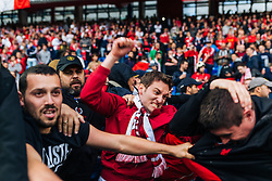 18.05.2016, St. Jakob Park, Basel, SUI, UEFA EL, FC Liverpool vs Sevilla FC, Finale, im Bild Schlägerei zwische den Fans // Fight between the Fans during the Final Match of the UEFA Europaleague between FC Liverpool and Sevilla FC at the St. Jakob Park in Basel, Switzerland on 2016/05/18. EXPA Pictures © 2016, PhotoCredit: EXPA/ JFK