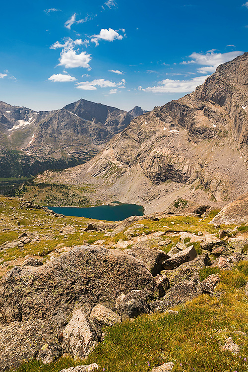 Overlooking Bear Lake in the Wind River Range, Shoshone National Forest, Wyoming