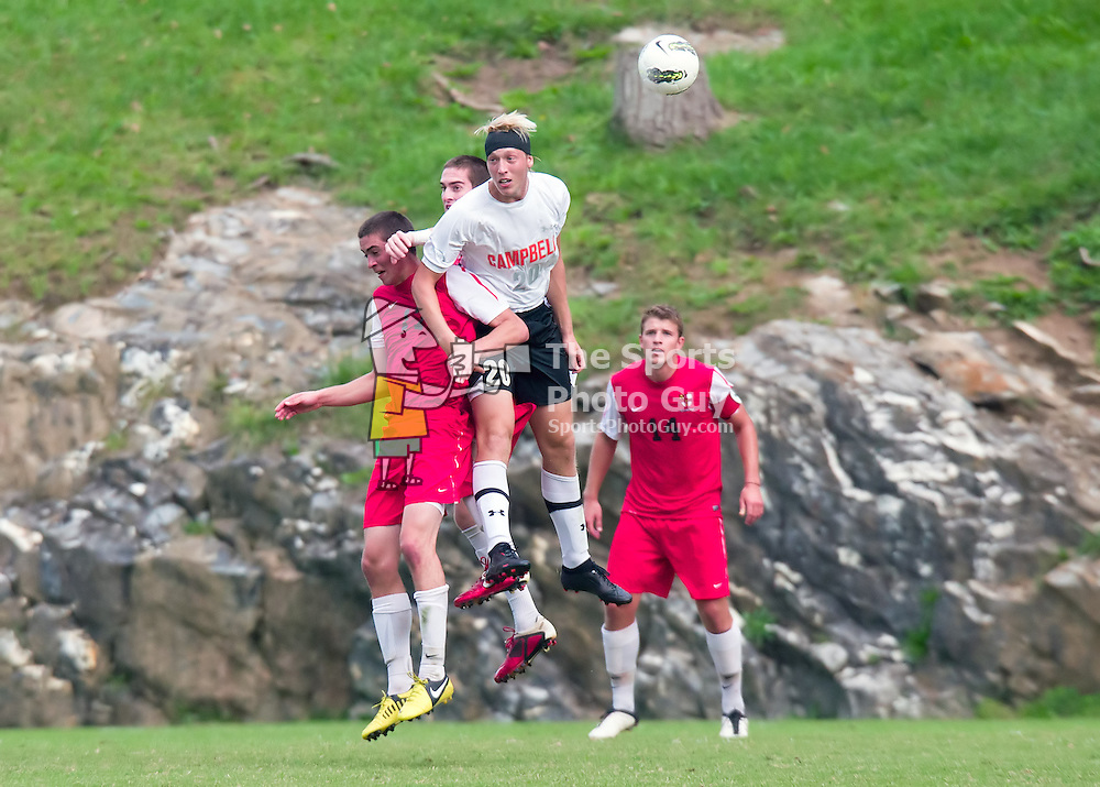 Campbell holds off spirited VMI rally to win in men's soccer, 3-2