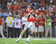 Ole Miss quarterback Bo Wallace (14) vs. Texas at Vaught-Hemingway Stadium in Oxford, Miss. on Saturday, September 15, 2012. Texas won 66-21. Ole Miss falls to 2-1.